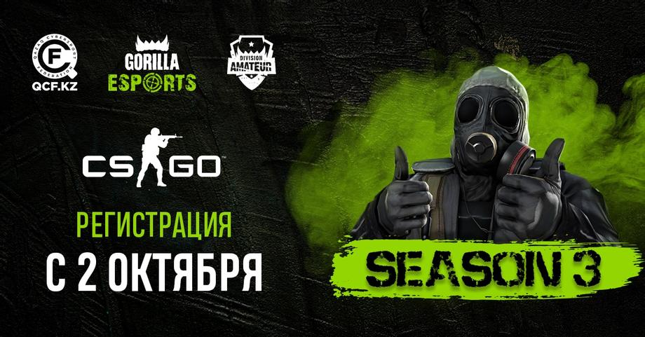 3 сезон Gorilla Esports League Amateur по CS:GO!